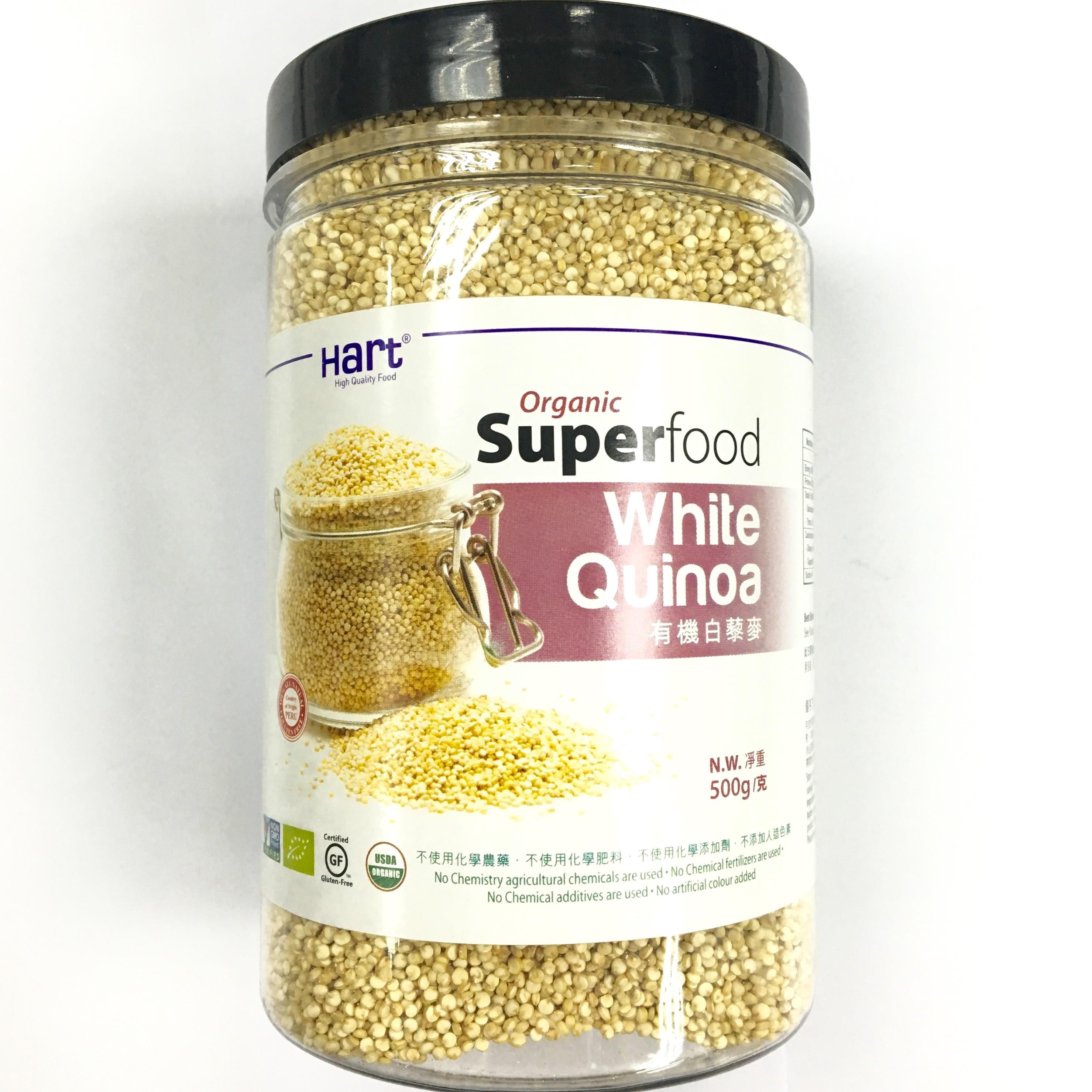 """Organic White Quinoa - Peru (""""500g""""/jar)"""