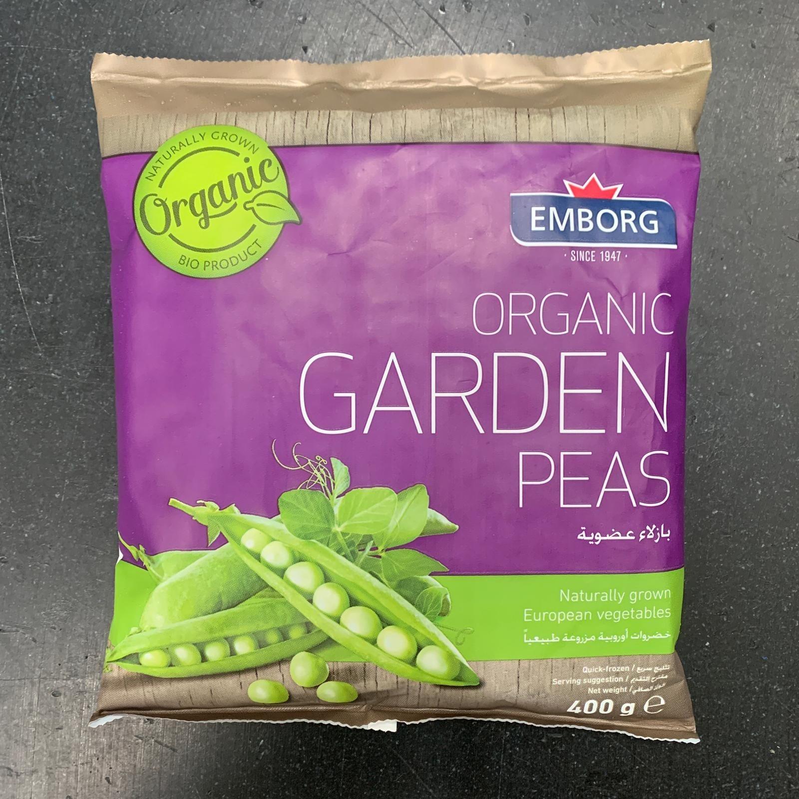 """Belgian Organic Frozen Garden Peas (""""~400g""""/pack)"""