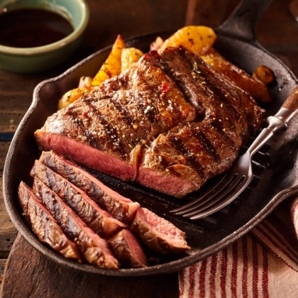 "Chilled AUS  Black Angus Rib Eye Steak (""~400g"")"