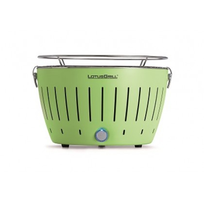 "Regular Mint Green LotusGrill (""340mm"" diameter) + Smokeless Charcoal (""1kg"") + Lighter Gel (""200ml"")"