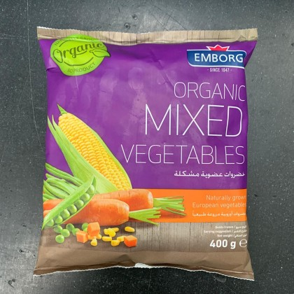 "Belgian Organic Frozen Mixed Vegetable  (""~400g""/pack)"