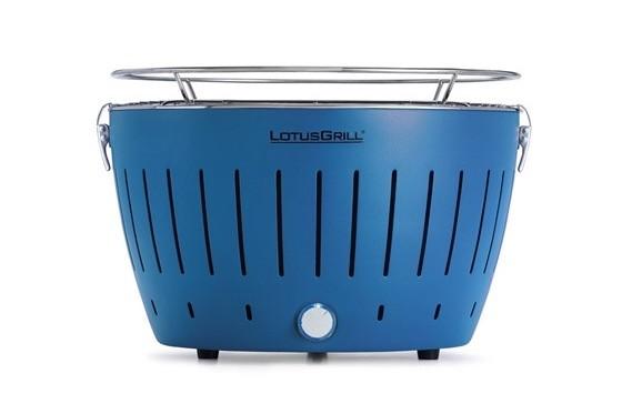 """標準藍色 LotusGrill 燒烤爐 (直徑""""340mm"""" ) + 無煙木炭 (""""1千克"""") + 助燃凝膠(""""200毫升"""")"""
